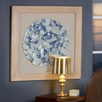 Fragmentos Cuadro Azul 90x90cm