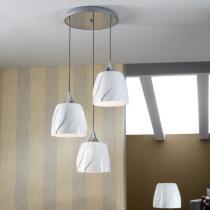 Helike Lámpara Colgante Redondo LED E27 3x20W Blanco