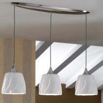 Helike Lámpara Colgante Lineal LED E27 3x20W Blanco