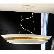 Isis Lámpara Colgante 3xE27 LED 10W Blanco y oro
