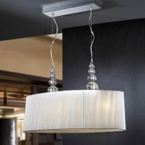 Mercury Pendant Lamp Doble 52x94cm 4xE27 LED 10W - Chrome