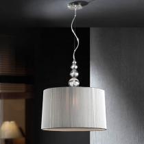 Mercury Pendant Lamp 55x50cm 3xE27 LED 10W - Chrome