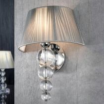 Mercury Wall Lamp 39x28cm 1xE27 LED 5,5W - Chrome lampshade