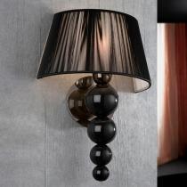 Mercury Applique 39x28cm 1xE27 LED 5,5W - brillant noir