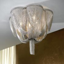 Minerva ceiling lamp 6L G9 42W níquel