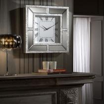 Nacar Reloj de Pared 50x50cm - espejo y Tiras de nácar