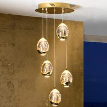 Rocio Lampe Suspension 45x30cm 5xLED 25W - Or
