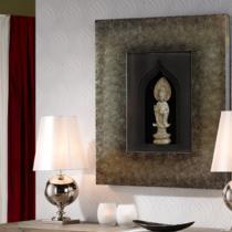Zenda bajorrelieve 98x80cm - Tono piedra marco Plata