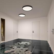 Up grand plafond 1 x plaque LED 43w - Laqué Graphite mate