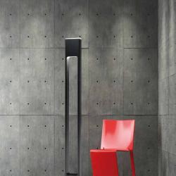 Note lámpara de Pie Halógena 250w Aluminio negro