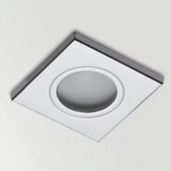 Square Bath Downlight Empotrable Difusor IP65 QR-CBC51 50w Cromo Mate