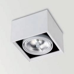 Orbital Surface 1 ceiling lamp adjustable QR-111 G53 75W + Equip electrónico black matt