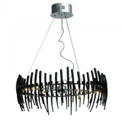 Comb Circle 78 Pendant Lamp Stradivarius Black