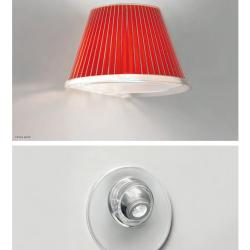 Choose Applique + LED Structure Gris Aluminium, Diffuseur Rouge