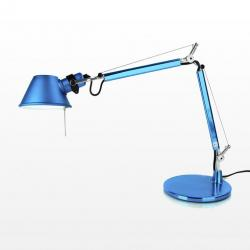Tolomeo Micro (with table base) Halogen E14 1x46w - Anodized turquoise