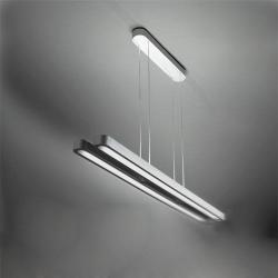 Talo Suspension due in linea (180, 240) 2x54w Fluorescent linéaire no dimmable Gris Argent