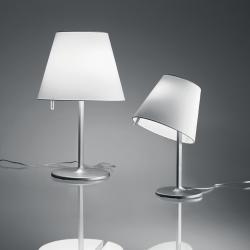 Melampo Lampe de table Grand max 2x52W Halogène (E27) Eco Gris Aluminium