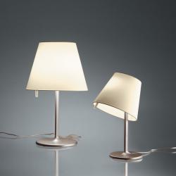 Melampo Lampe de table Grand max 2x52W Halogène (E27) Eco Bronze/Diffuseur Ecrú