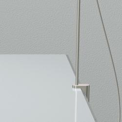 Talak Accessory clamp for table Bright aluminium