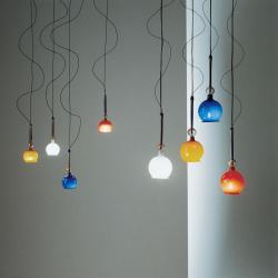 Fenice 8 Lámpara Colgante con transformador Azul