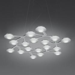 Led Net Pendant Lamp circular 17 LED 39w white Lúcido