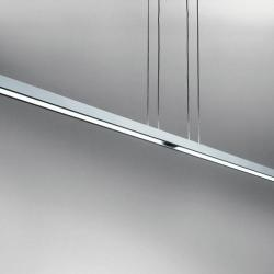 Talo Suspension due in linea (180, 240) 2x54w Fluorescent linéaire dimmable Gris Argent