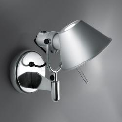 Tolomeo Faretto Applique halógena 1x77w E27 con interruttore on/off - Alluminio