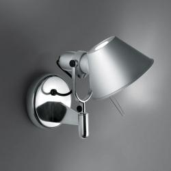 Tolomeo Faretto Aplique halógena 1x77w E27 sin interruptor on/off - Aluminio