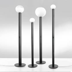 Laguna 16 Floor Lamp LED H140cm marrón oscuro/white ahumado trasparente
