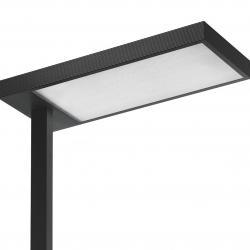 Kalifa lámpara de Pie Prismoptic 3 tija lateral TC LEL 2G11 2x80W regulador interactivo dali blanco