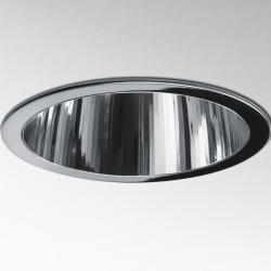 Luceri 220 Downlight Reflector TC-DEL 2x18w con frontal de Plástico + Cristal Transparente gris