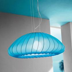Muse Lámpara Colgante E27 1x150w Azul Claro