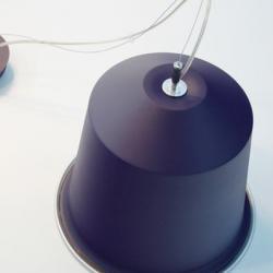 Colors Light Cápsula of coffee Pendant Lamp Lila