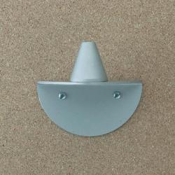Petite Accesorio Soporte de Pared D para Aplique para conectar a toma de corriente Aluminio Mate