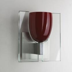 Pinot Wall Lamp with Glass G9 1x48w Burdeos