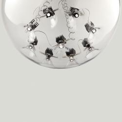 Round S1 40 Lámpara Colgante ø40cm LED 9 x 2,7W Transparente