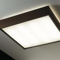 Quadrat 120x120 ceiling lamp 2G11 2x55w Wood Natural