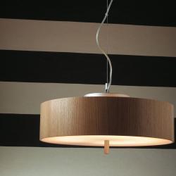 Ronda Pendant Lamp 2Gx13 55w Wood oak Natural
