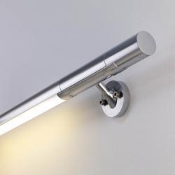 Hold Sistema de pasamanos con luz LED 9,6W aluminio - Plata brillo