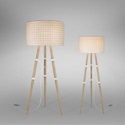 Wire Light F75 Floor Lamp E27 150W - white