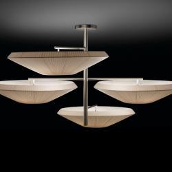 Siam - 4 luces (Solo Estructura) Lámpara Colgante sin pantallas E27 22w Níquel Satinado