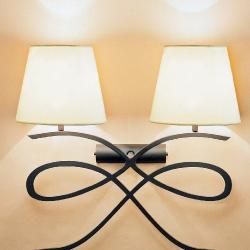Avani - Mini (Solo Structure) Wall Lamp Artesanal without lampshades 2xE27 46w Hierro Black