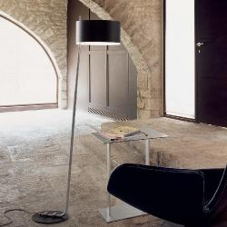 Club - P (Solo Structure) Floor Lamp without lampshade E27 46w black matt-Níquel
