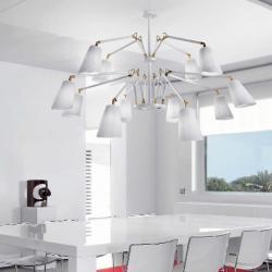 Cornelia - 03 (Solo Structure) Lamp Pendant Lamp without lampshades E27 12x46w white - Latón Pulido