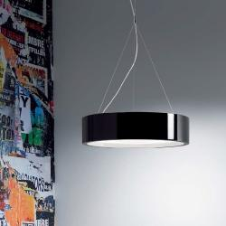 Elea - 85 suspension E27 55w dimmable Sistema Dali-Black Lacquered Shiny