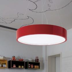 Elea - 85 suspension E27 55w dimmable Sistema Dali-Rojo Lacquered Brillan