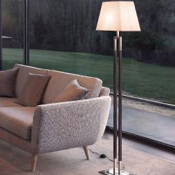 Ema - Floor Lamp (Solo Structure) Floor Lamp without lampshade E27 46w Níquel Satin