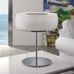 Inari Table Lamp E27 46w Nickel Glass opal Grabado