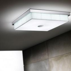 Kuadrat - F (Solo Structure) ceiling lamp without lampshade 55W T5 Níquel Satin