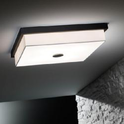 Kuadrat - I (Solo Structure) ceiling lamp without lampshade 46 W T5 Nickel Satin